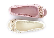 White and pink shoes Stock Photography