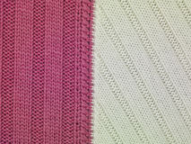 White and pink stripes fabric, close up Stock Photography