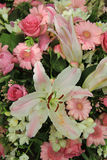 White and pink wedding flowers Royalty Free Stock Photography