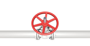 White pipe with valve Royalty Free Stock Photo