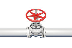 White pipe with valve Stock Photography
