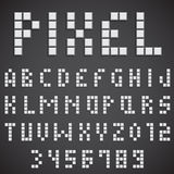 White Pixel Font Royalty Free Stock Images