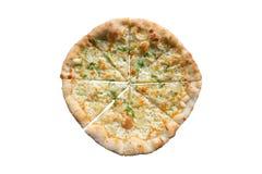 White Pizza , garlic and Mozzarella Cheese Royalty Free Stock Photography