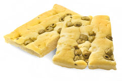 White pizza with olives Stock Image