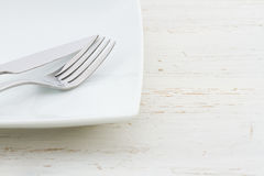 White place setting Royalty Free Stock Photo