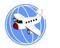 White plane Royalty Free Stock Images