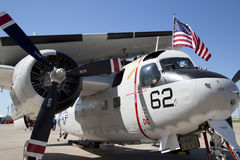 White plane at Air Power Expo Stock Photography