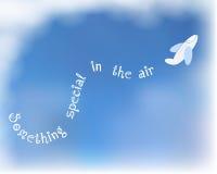 White plane on blue sky background. Illustration eps10 Royalty Free Stock Photo