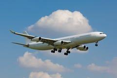 White plane Royalty Free Stock Photography