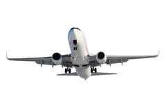 White plane with landing gear Royalty Free Stock Photos
