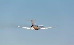 White plane takes off Stock Image