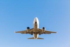 White plane takes off Royalty Free Stock Photo