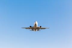 White plane takes off Stock Photography
