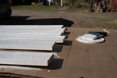 White planks Stock Photo
