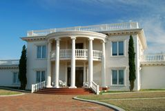 White Plantation Home Stock Photo