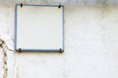 White plaque Royalty Free Stock Photo