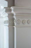 White plaster column Stock Photo