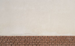 White plaster and red brick wall background texture. White plaster and red brick wall background or  texture Stock Photo