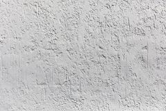 White plaster on wall as background texture Royalty Free Stock Images