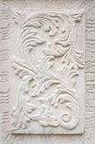 White plaster on the wall, a bas-relief Royalty Free Stock Photography