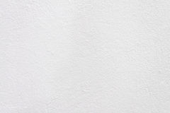 The white plastered wall. Closeup Stock Images