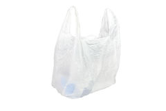 White plastic bag Royalty Free Stock Image