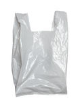 White plastic bag Royalty Free Stock Images