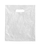White plastic bag. Stock Images