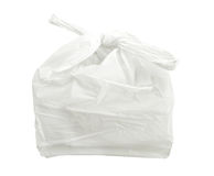 White plastic bag isolated on white background with clipping path. Royalty Free Stock Photography