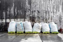 White plastic bags Stock Photos