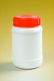 White plastic bottle Stock Images