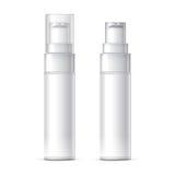 White plastic bottle can sprayer Stock Image
