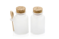 White plastic bottle closure with a cork Royalty Free Stock Image