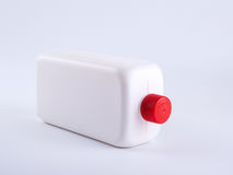 White plastic bottle on a white background Stock Images
