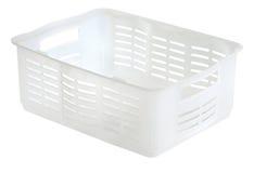 White plastic box. Isolated on white background Stock Photography