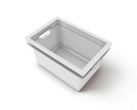 White plastic box for clothes Royalty Free Stock Image