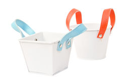 White plastic bucket. Product Packaging For other tool. Clipping path Stock Photography