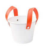 White plastic bucket. Product Packaging For other tool. Clipping path Stock Images