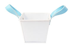 White plastic bucket. Product Packaging For other tool. Clipping path Royalty Free Stock Photography
