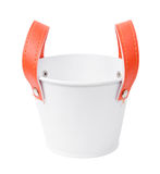 White plastic bucket. Product Packaging For other tool. Clipping path Royalty Free Stock Image
