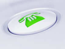 White plastic button Stock Images