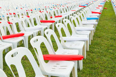 White plastic chairs Stock Photography