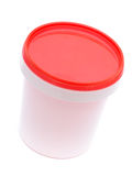 White plastic container Stock Images