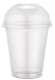 White plastic cup with cap. Stock Photography