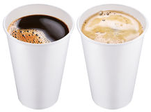 White plastic cup. White plastic cups. File contains 2 clipping paths stock photography