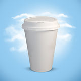 White plastic cup. Recycling concept Stock Images