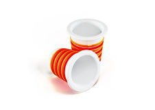 3d plastic cups isolated on white Stock Photography