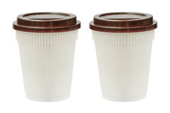 White plastic cups Royalty Free Stock Photos