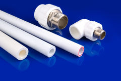 White plastic fittings Royalty Free Stock Photo