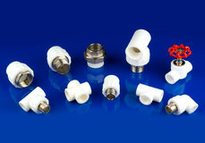 White plastic fittings Stock Photography